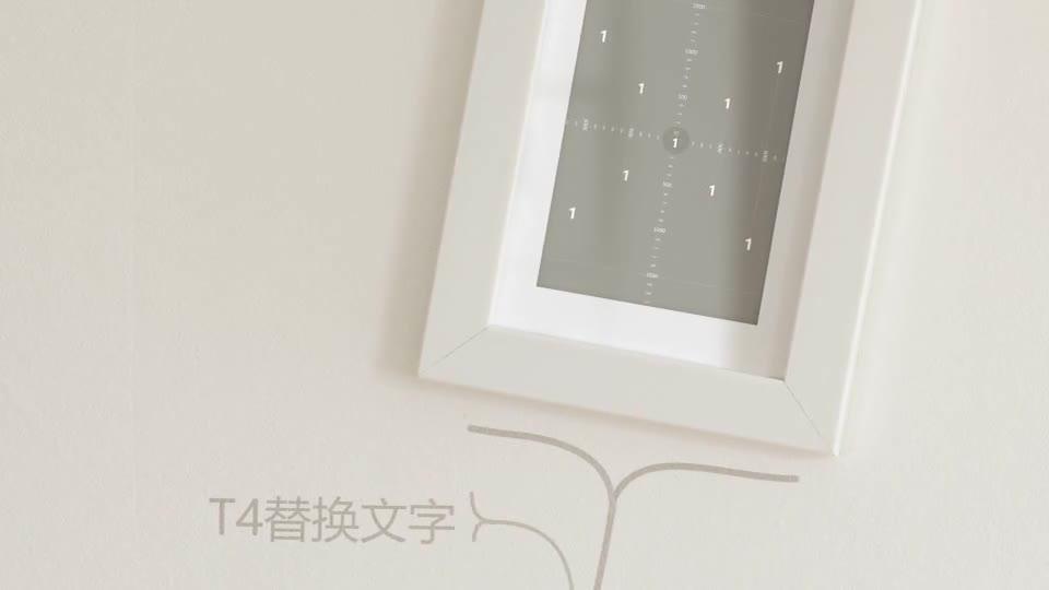 室内温馨简洁动画生长相框相册m00012插图