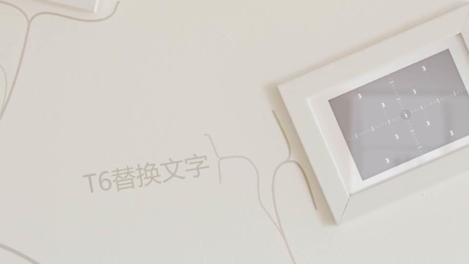 室内温馨简洁动画生长相框相册m00012插图3
