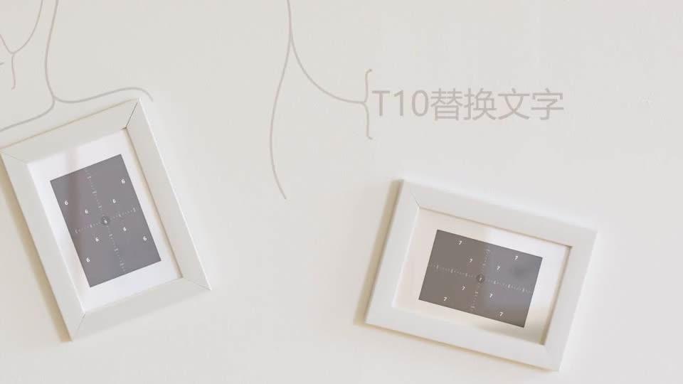 室内温馨简洁动画生长相框相册m00012插图7
