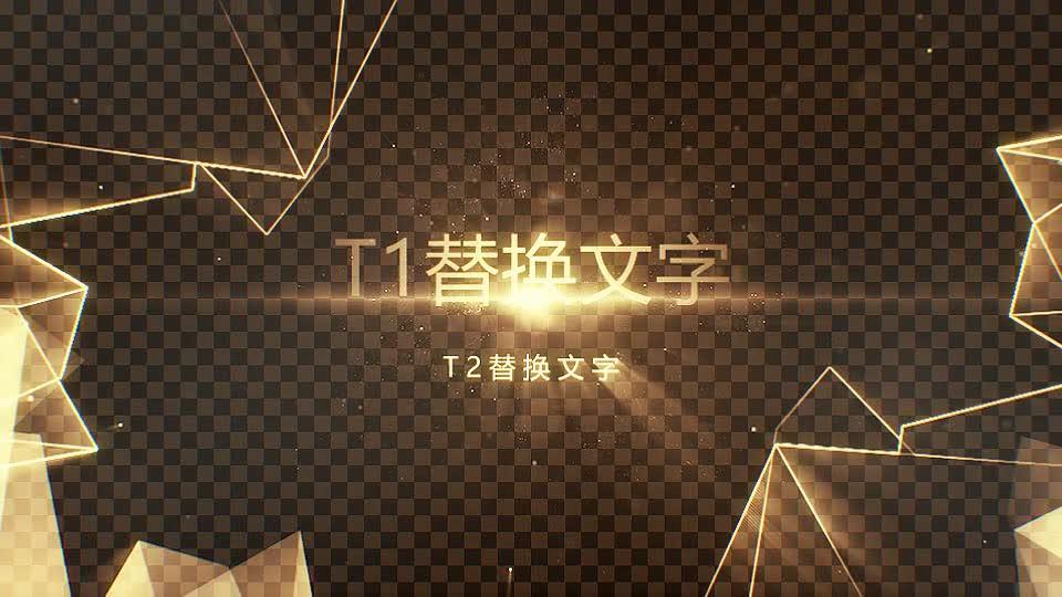 奢华黑金线框字体.m00472插图