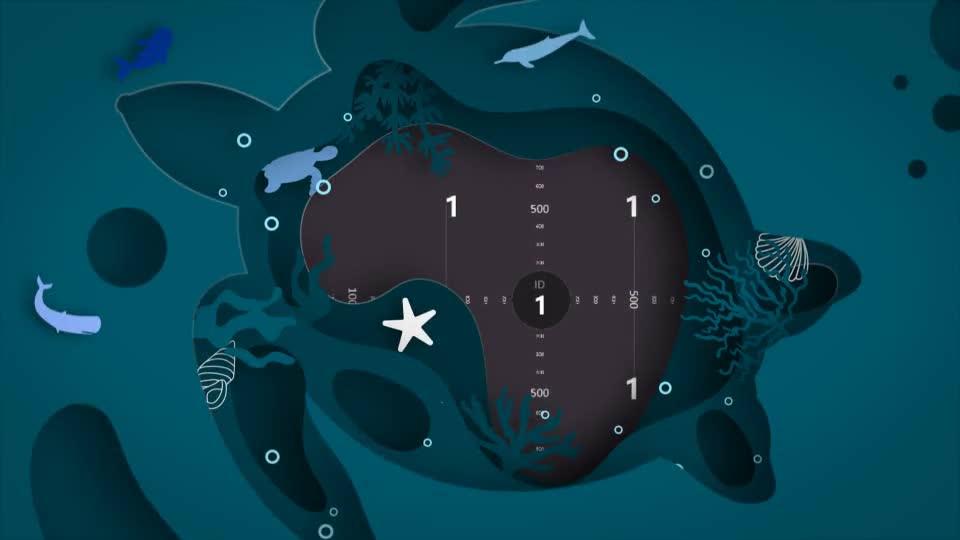 温馨海洋动物卡通卡纸叠加效果相册.m00498插图