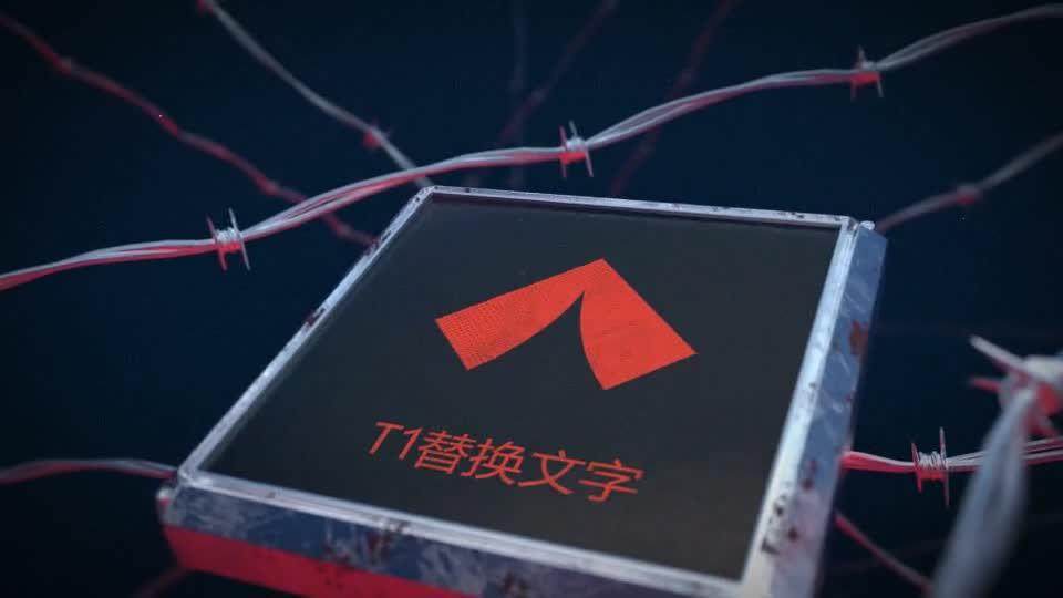 红色禁区钢丝标识演绎m00507插图