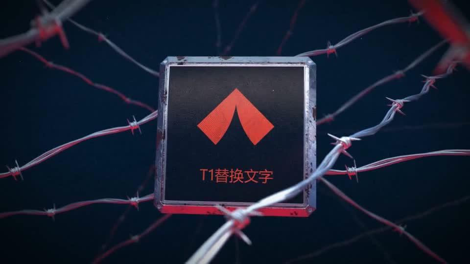 红色禁区钢丝标识演绎m00507插图1