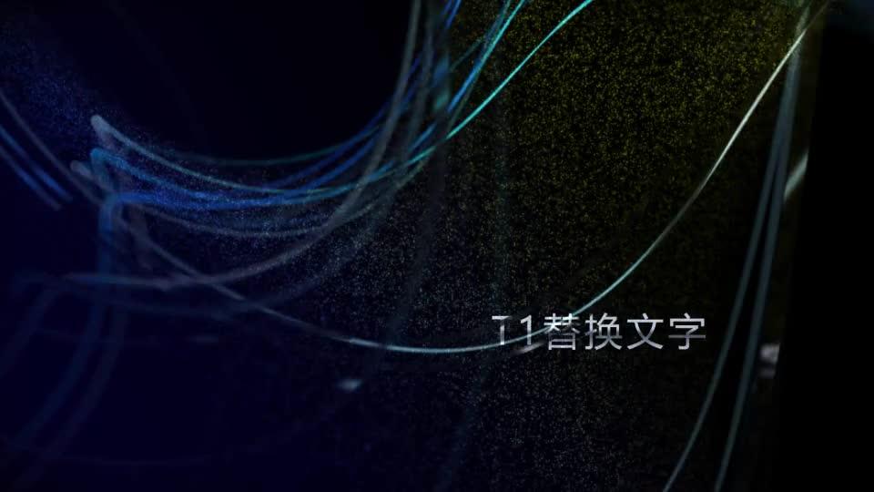 高级粒子线条环绕标题开场02.m00511插图1