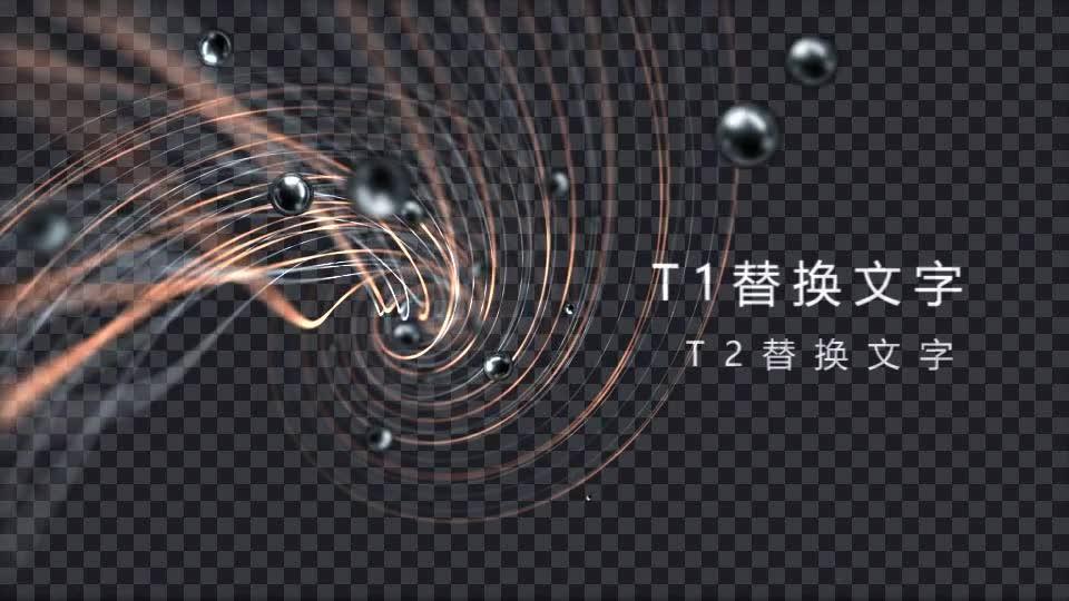 扭曲双色金属线条3D黑珍珠开场 镜头1.m00526插图