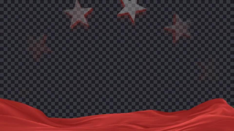 党政丝绸光晕红色经典五角星党政内页展示.m00538插图