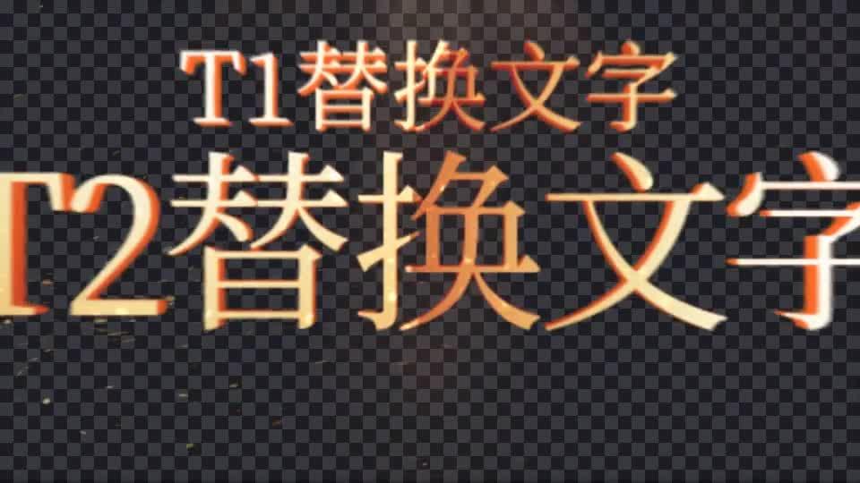 党政大气金色字体内页目录展示.m00539插图1