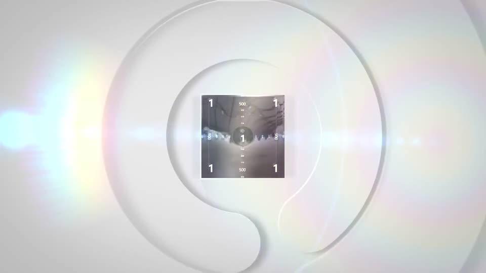 现代极简风格的轮廓勾勒后3D标志翻转演绎动画m50003插图