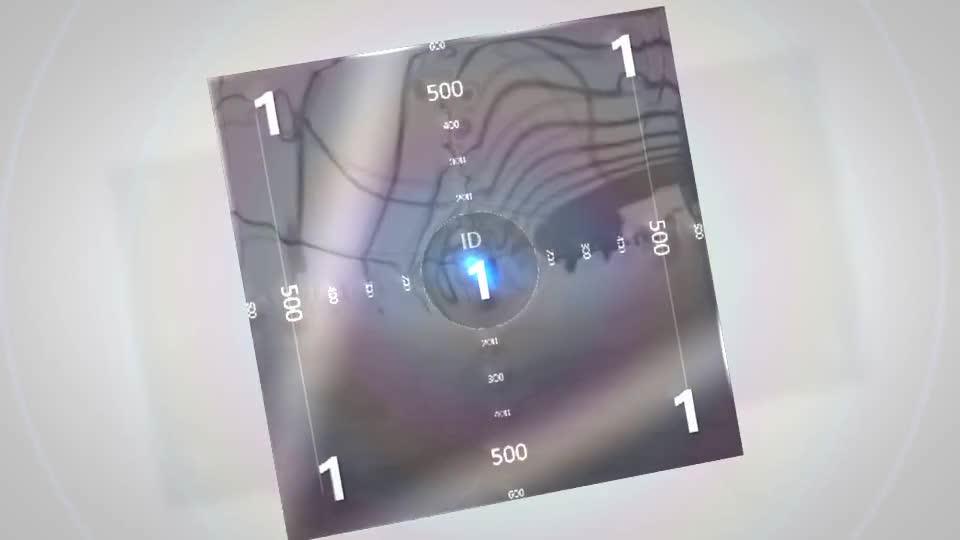 现代极简风格的轮廓勾勒后3D标志翻转演绎动画m50003插图1